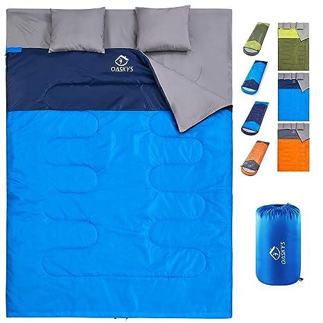 Amazon.com: oaskys Camping Sleeping Bag - 3 Season Warm ...
