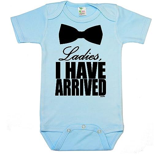 "418b172f3 "" Ladies, I HAVE ARRIVED "" Custom Boutique Baby bodysuit onesie."