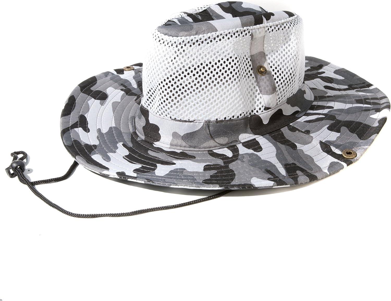 Esercito mimetico stampa maglia cappello di stile Safari con lunghezza regolabile disponibile in una scelta di colori Accessoryo