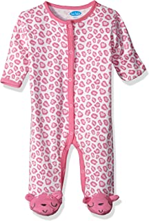 54f4bedca Bon Bebe Baby Girls' 1 Pc Footed Coverall with Fold Back Mitten Covers