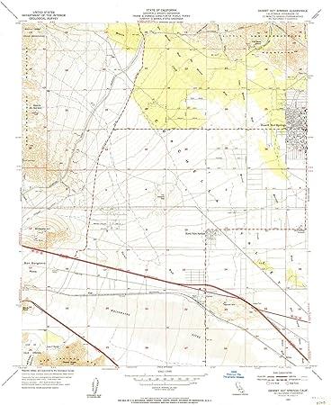Desert Hot Springs California Map.Amazon Com Yellowmaps Desert Hot Springs Ca Topo Map 1 24000