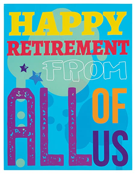 Amazon.com: Tarjetas de jubilación grandes – 3 unidades ...
