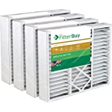 FilterBuy 20x25x5 Air Filter MERV 11, Pleated Replacement HVAC AC Furnace Filters for Honeywell, Carrier, Bryant, Day & Night