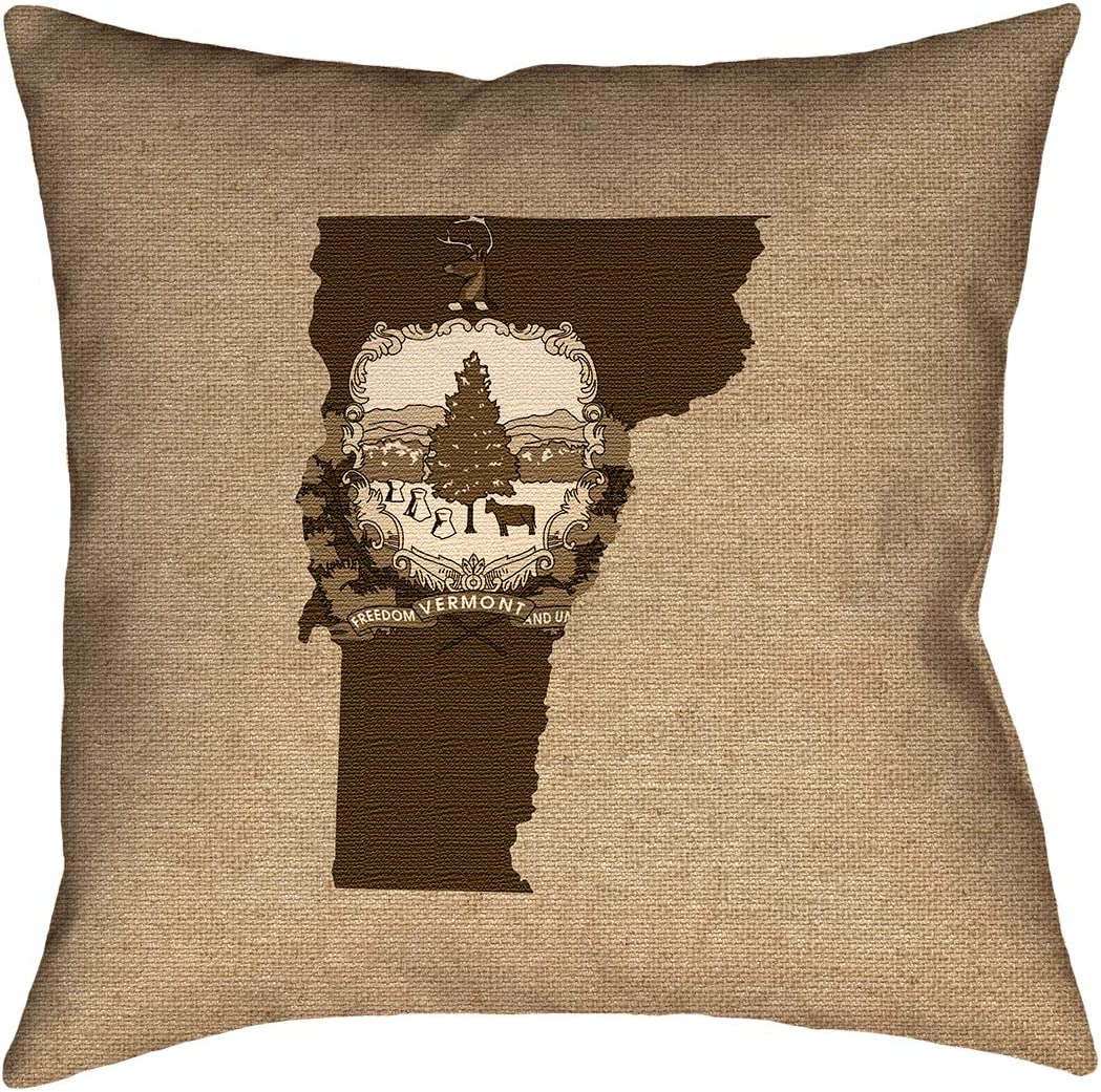 ArtVerse Katelyn Smith 20 x 20 Cotton Twill Double Sided Print with Concealed Zipper /& Insert Delaware Love Pillow