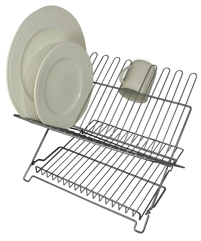 Better Houseware 1483 Junior Folding Dish Rack, Black #1483/E