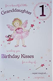 Beautiful Granddaughter Age 1 Large Luxury 1st Birthday Card