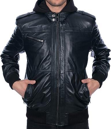 New Mens 100/% Genuine Leather Bomber Slim Fit Jackets S-M-L-XL-2XL-3XL-4XL-5XL