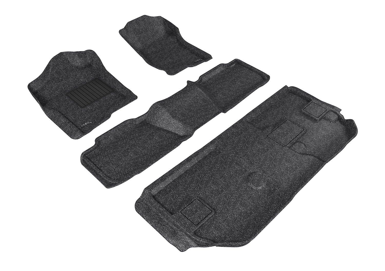 3D MAXpider L1CH04632209 Custom Fit Classic Series Floor Mats Black Third Row for Chevrolet Suburban Models