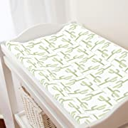 Carousel Designs Arizona Cactus Changing Pad Cover - Organic 100% Cotton Change Pad Cover - Made in The USA