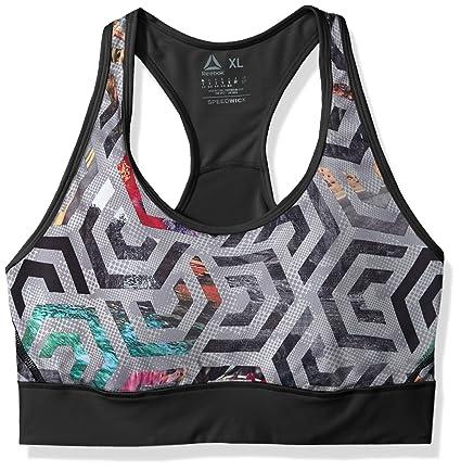 6ce52746652 Amazon.com  Reebok Women s Running Speedwick high Impact Bra  Sports ...