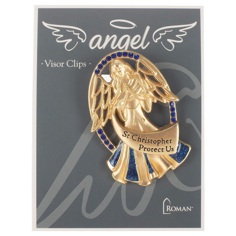 2.5 Inches Height Visor Clip Christopher Angel Light Blue Roman St