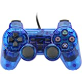 Wired USB Controller Double Vibration Gamepad Joystick For PC Computer Laptop Blue