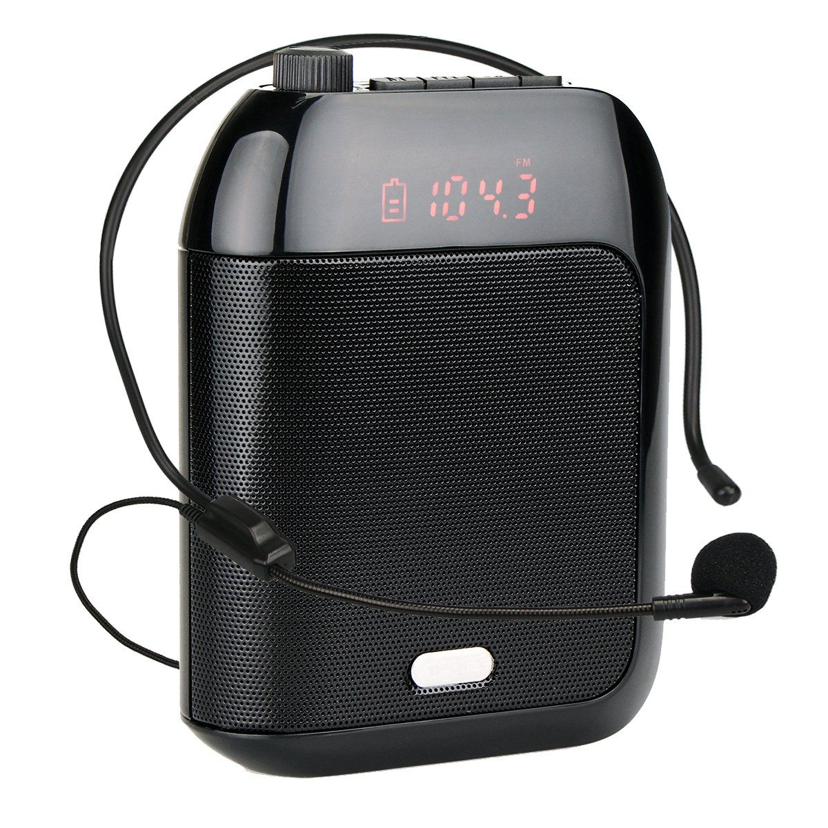 Retekess T9 15W Portable Voice Amplifier Rechargeable Mini With Wired Microphone Headset FM AUX In Jack MP3 Player Voice Recording for Teachers Coaches Training Fitness Class(Black) by Retekess (Image #1)