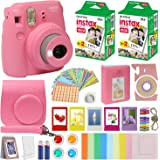 Fujifilm Instax Mini 9 Instant Kids Camera Flamingo Pink with Custom Case + Fuji Instax Film Value Pack (40 Sheets…