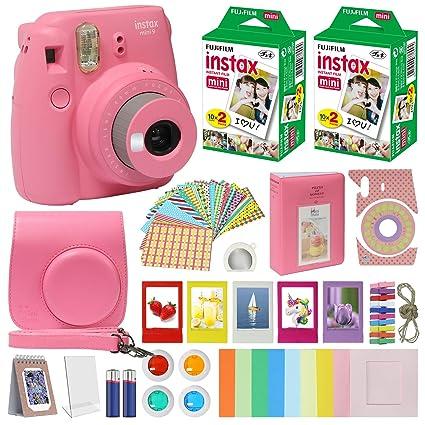 5e703d404f Fujifilm Instax Mini 9 Instant Kids Camera Flamingo Pink with Custom Case +  Fuji Instax Film