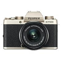 Fujifilm X-T100 Mirrorless Digital Camera w/XC 15-45PZ Lens kit Champagne Gold