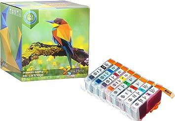 Amazon.com: HERO 8 Pack cartuchos de tinta para foto de BCI ...