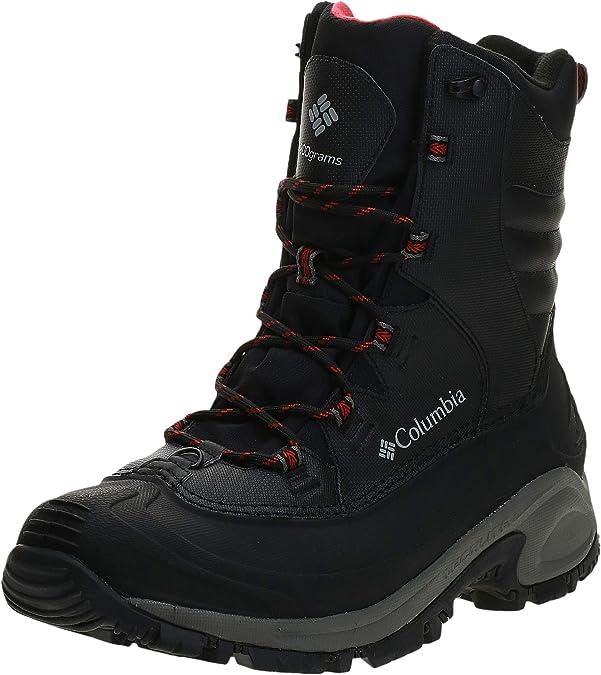 Columbia Men's Bugaboot III Snow Boot, Black/Bright Red, 7.5
