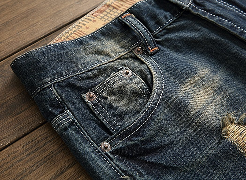 TOPING Fine Fashion;Handsome Men's Ripped Slim Jeans 5 Designs A92842 by Toping Fine Pants (Image #2)