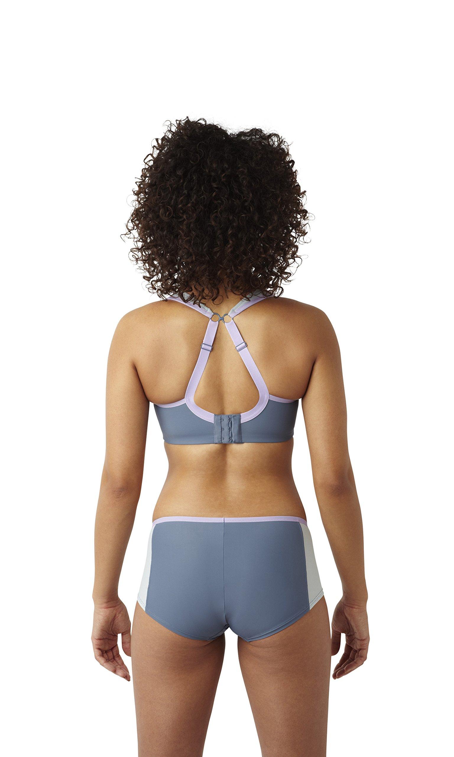 Panache Women's Plus Size Wired Sports Bra, Grey 28DD by Panache (Image #6)
