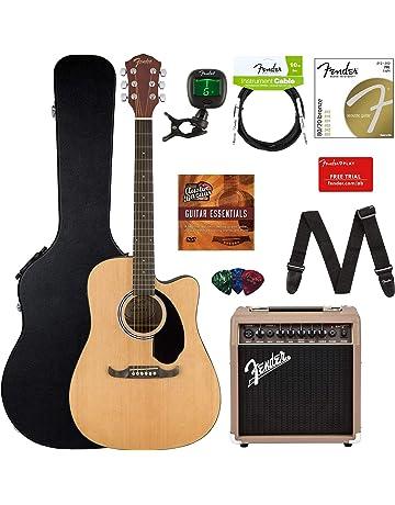 Fender FA-125CE Acoustic-Electric Guitar Bundle with Acoustasonic Amp, Case, Cable