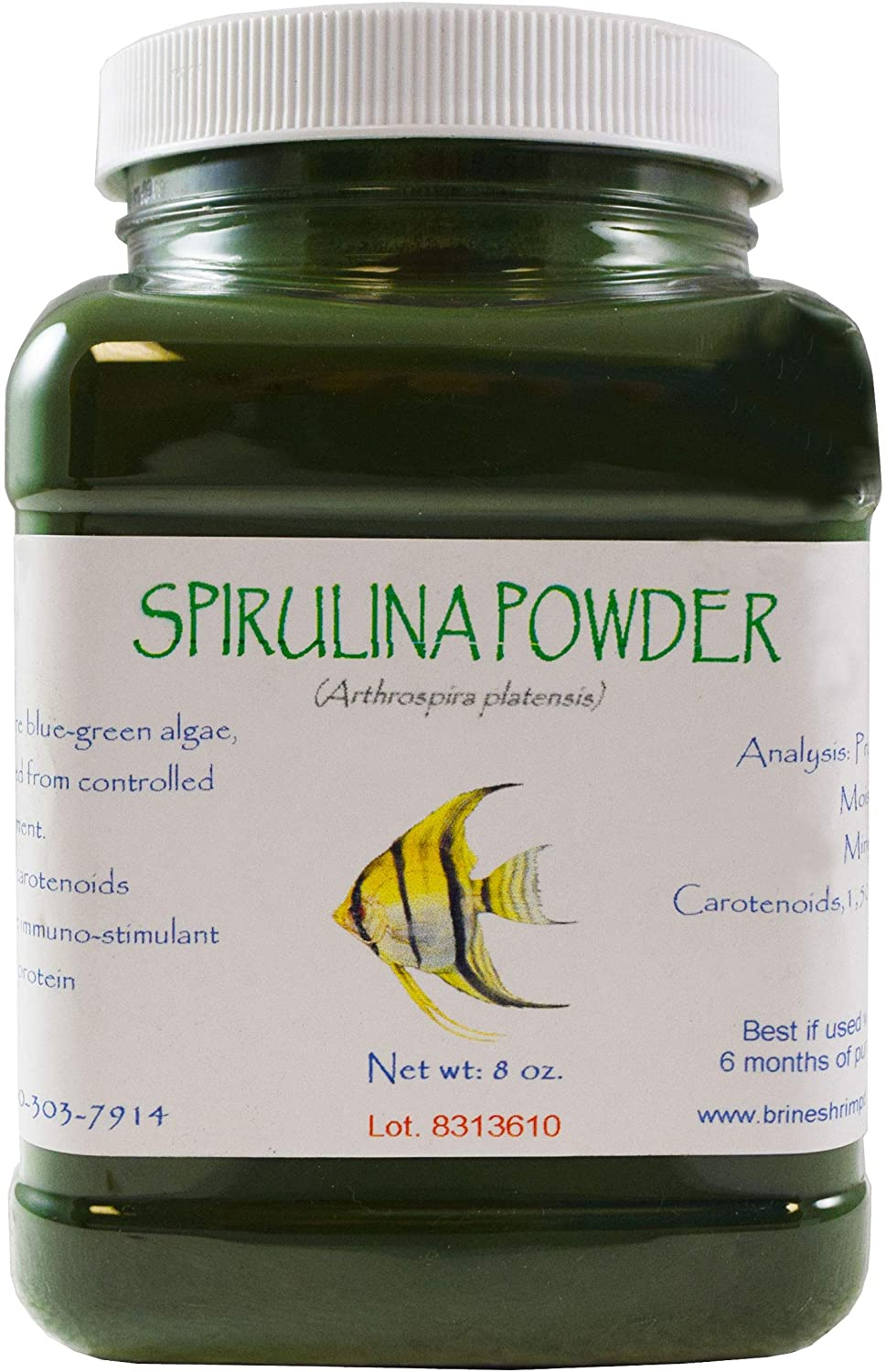 Brine Shrimp Direct Spirulina Powder, 8 oz