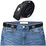 No Buckle Stretch Women Belt, JEMACHE Comfortable Elastic Waist Belt for Jeans Pants