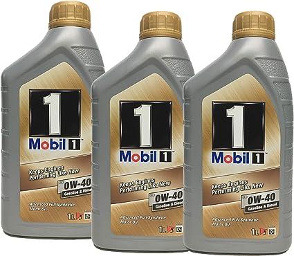 Aceite Trisintetico Motor - Mobil 1 fs 0W-40, pack 3 litros ...