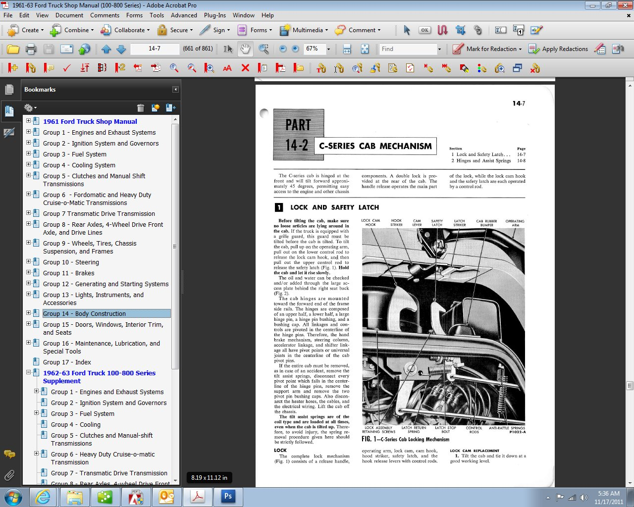1961 63 Ford Truck Shop Manual Motor Company David E Leblanc 1962 Brake Lamp Wiring 9781603710701 Books