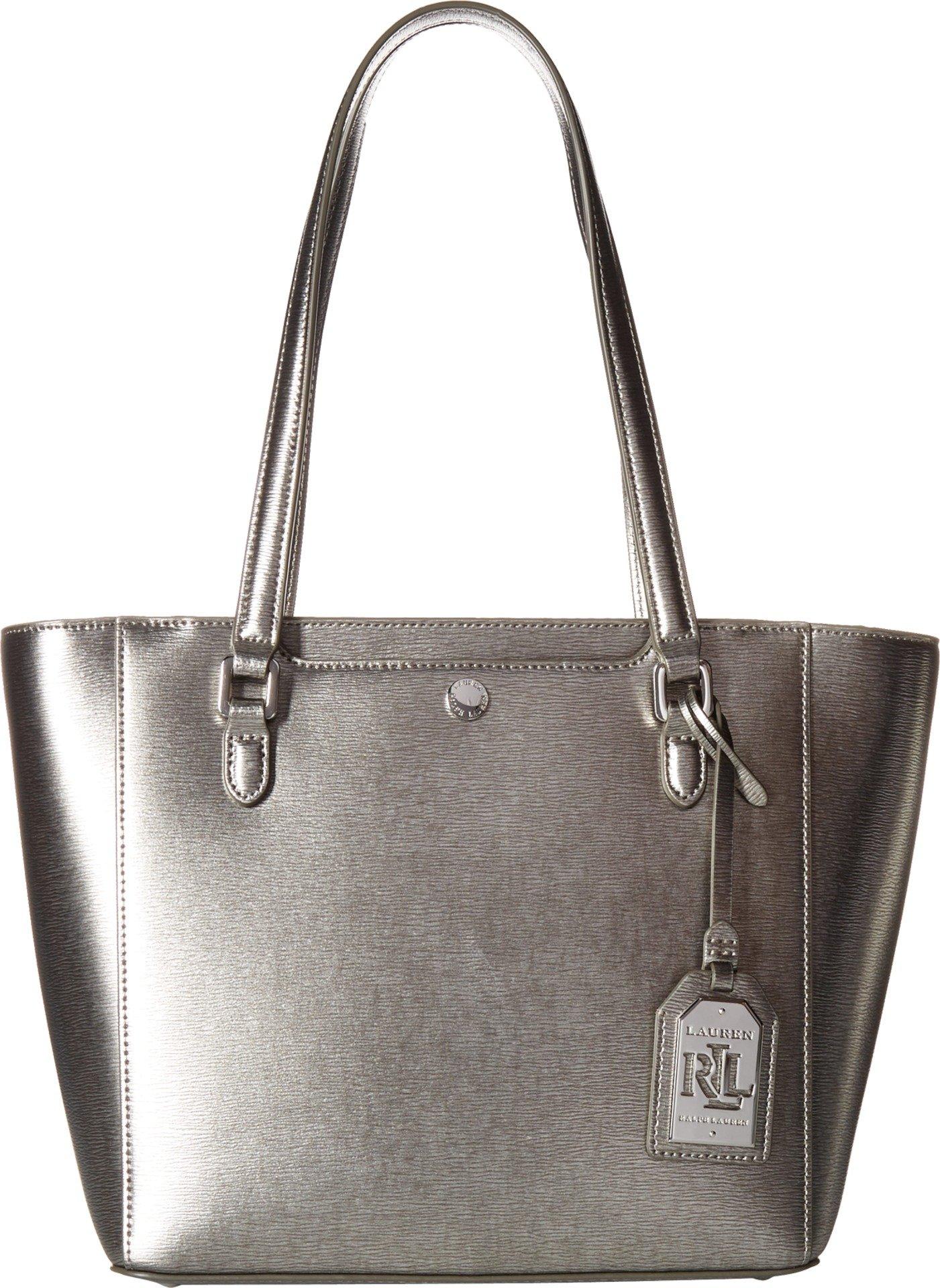 LAUREN Ralph Lauren Women's Newbury Halee II Shopper Antique Silver One Size