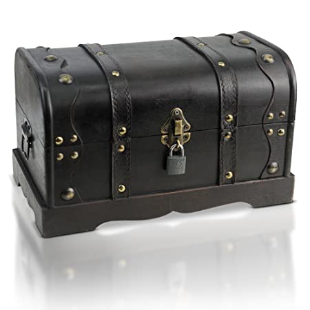 Gentil Brynnberg   Pirate Treasure Chest Storage Box   Durable Wood U0026 Metal  Construction   Unique,