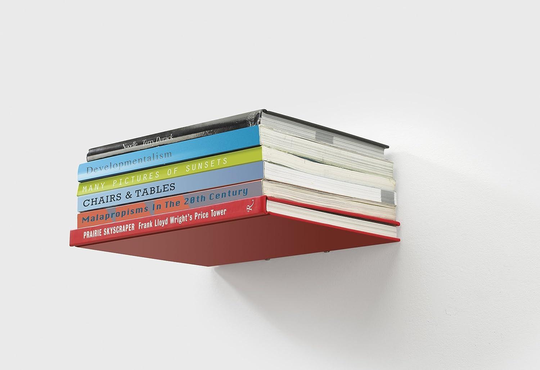 amazon com umbra conceal floating bookshelf small silver home rh amazon com Floating Shelf Brackets DIY Floating Shelves