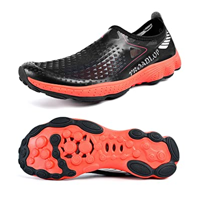 fbfbbfe2bf801c Feetmat Mens Slip on Water Shoes Athletic Sports Shoes Barefoot Quick  Drying Boat Shoes Black