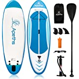 Inflatable Paddle Boards, 8'/10'/12' SUP Paddle Board for Adults & Youth, Stand up Paddleboard, Ultra-Light Accessories, Back