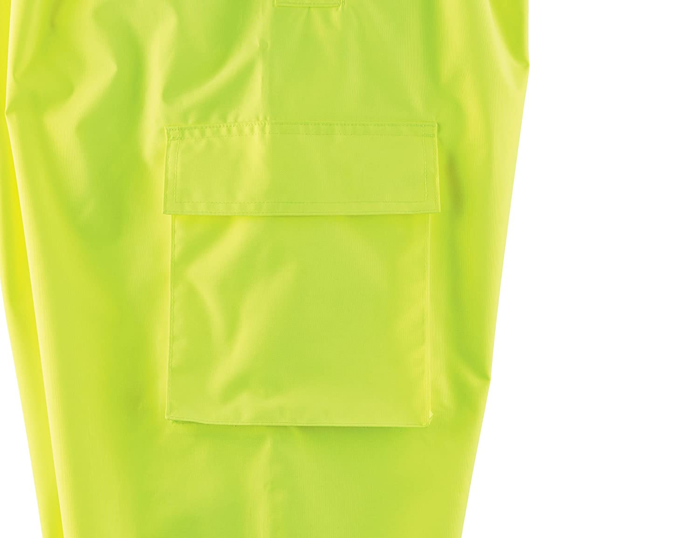 Ergodyne GloWear 8915BK ANSI Black Bottom High Visibility Lime Safety Rain Pants X-Large