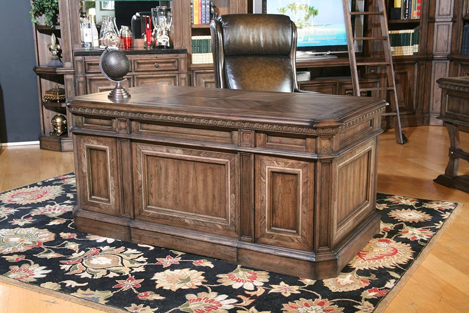 Amazon.com: Parker House Aria Library Double Pedestal Executive Desk - Antique  Vintage Smoked Pecan: Kitchen & Dining - Amazon.com: Parker House Aria Library Double Pedestal Executive Desk