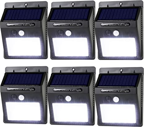 Amazon Com Leadtop Solar Motion Sensor Light 20 Led Solar Powered Wireless Weatherproof Security Wall Lights For Outdoor Yard Garden Driveway Pathway Pool 6 Pack Home Improvement