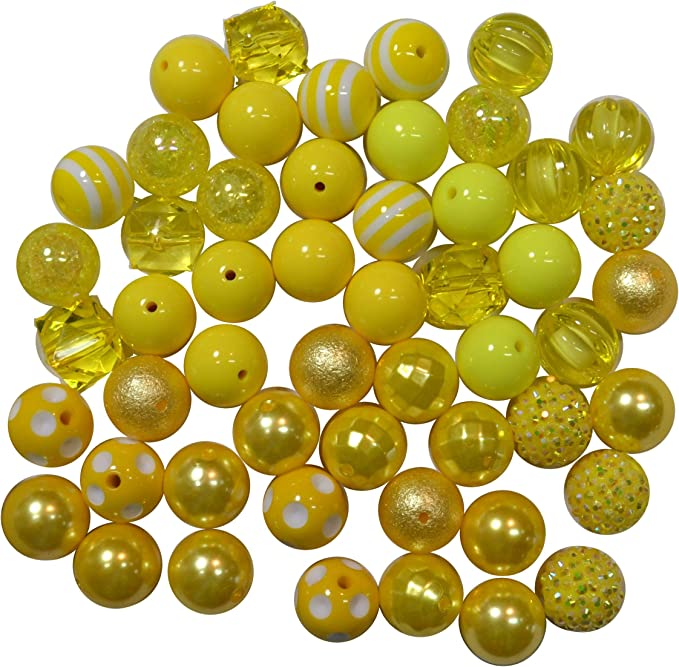 20mm Light Blue Solid Chunky Bubblegum Beads Set of 10   A43