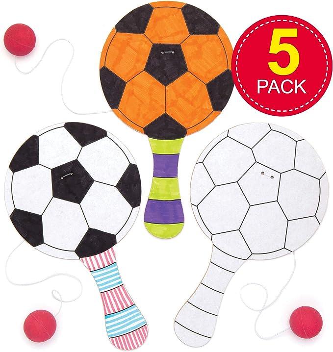 Baker Ross- Paletas de fútbol para colorear (Pack de 5) Paletas ...