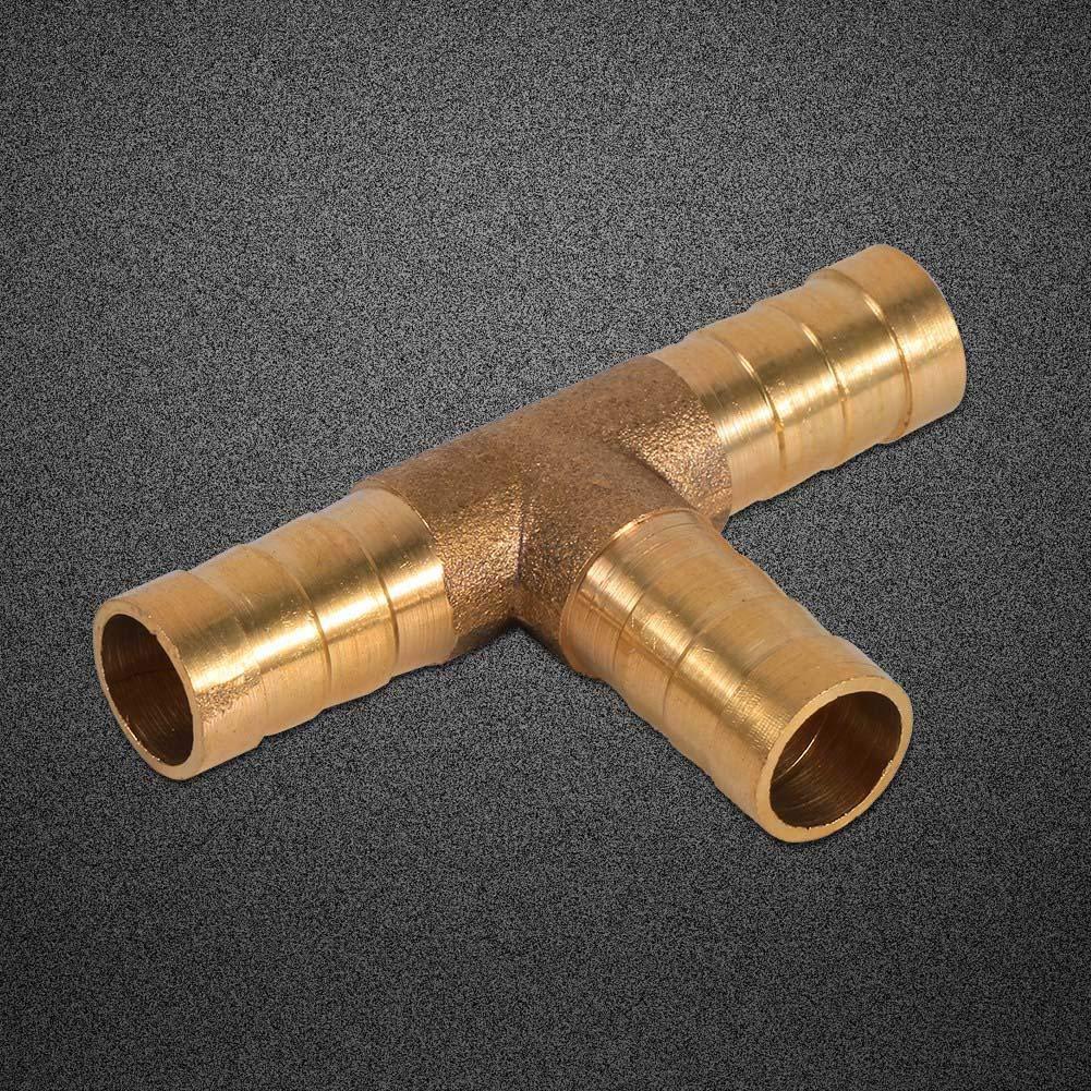 Conector de p/úas de la manguera de combustible adaptador de uni/ón de manguera de uni/ón de T-piece laton de 3 v/ías para gas/óleo 8mm aire y combustible