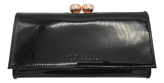 5fc0b5fc63086 Ted Baker  Kassady  crystal bobble matinee wallet patent leather black