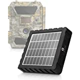 CREATIVE XP Trail Camera Solar Panel Kit - Waterproof 9-12V Solar Charger with 2400 mAh Rechargeable Lithium Battery - Outdoo