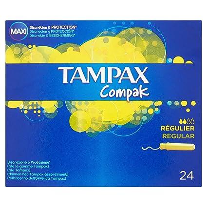 Tampax Compak Tampones X 24 cm Regular con aplicador -