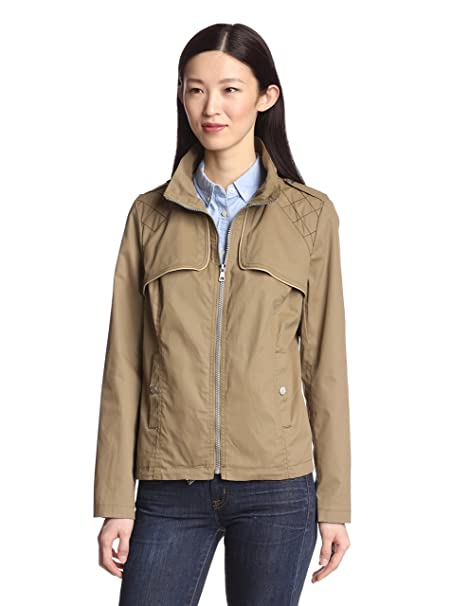 Sam Edelman Womens Canvas Bomber Jacket