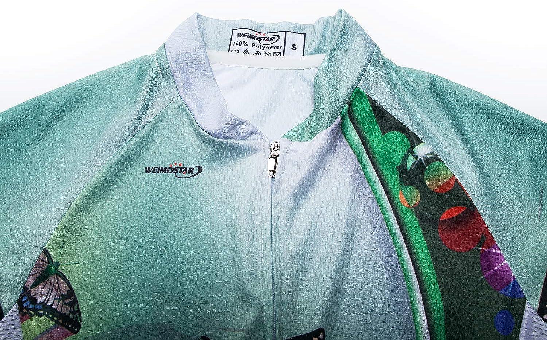 Camiseta de ciclismo para mujer de secado r/ápido