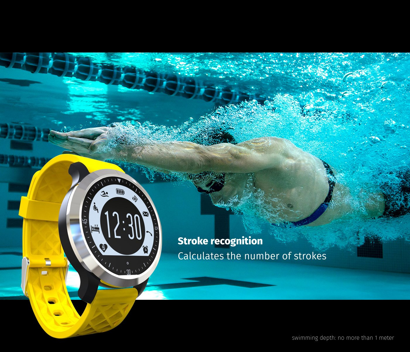 Amazon.com: TechComm F69 IP68 Waterproof Bluetooth Smart ...