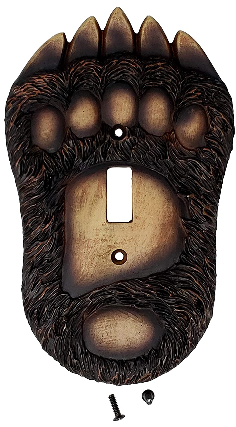 Decorate your Cabins double electrical wall plates. Wooden Black Bear Paw Double Light Switch Cover