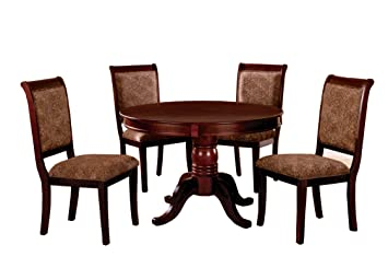 Amazoncom Furniture Of America Bernette 5 Piece Round Dining