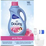Downy April Fresh, Free of Dyes, Ultra Concentrated, Liquid Fabric Conditioner (Fabric Softener) Eco-Box, HE Compatible…
