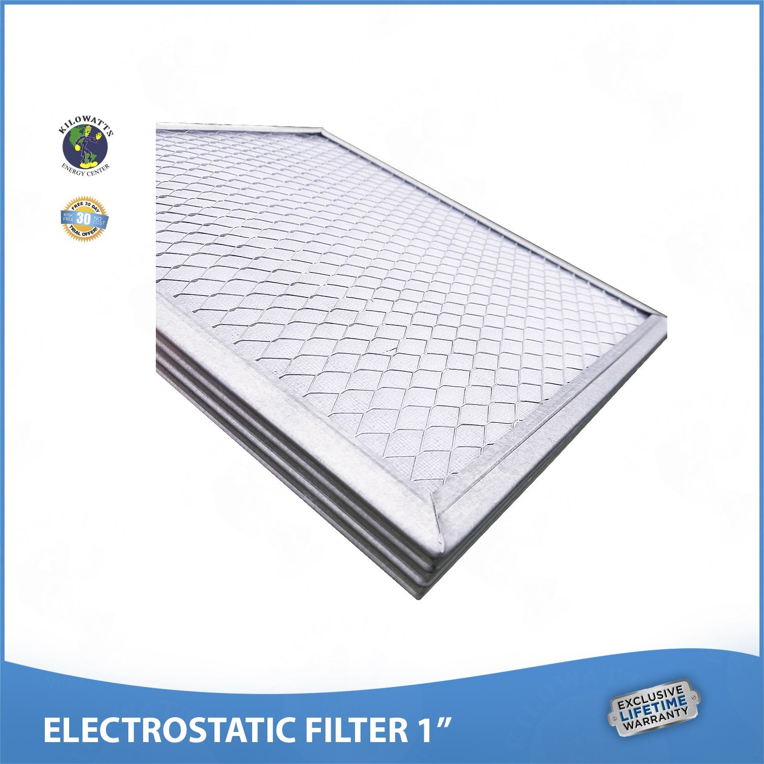 20x25x1 Lifetime Air Filter - Electrostatic Washable Permanent A/C Furnace Air Filter. by Kilowatts Energy Center (Image #5)